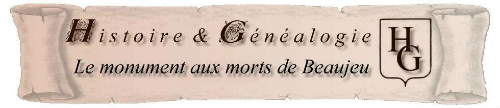 Titre monument aux morts de Beaujeu